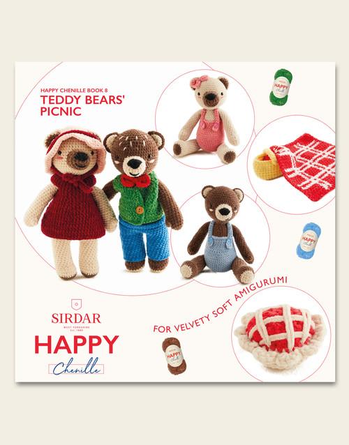 Sirdar Happy Chenille Book 8, Teddy Bears' Picnic