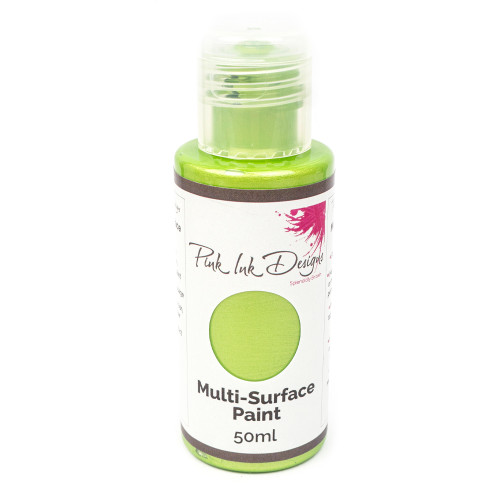 Pink Ink Designs - Multi Surface Paint - Green Apple Shimmer  50ML