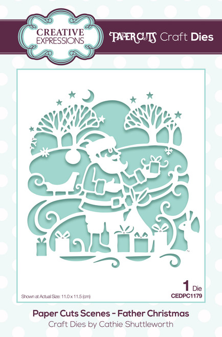 Creative Expressions Paper Cuts Scene Father Christmas Craft Die
