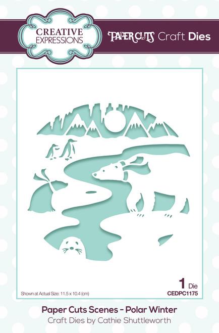Creative Expressions Paper Cuts Scene Polar Winter Craft Die