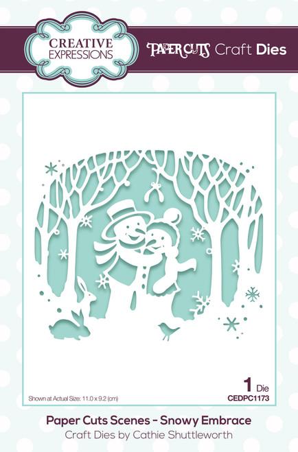 Creative Expressions Paper Cuts Scene Snowy Embrace Craft Die