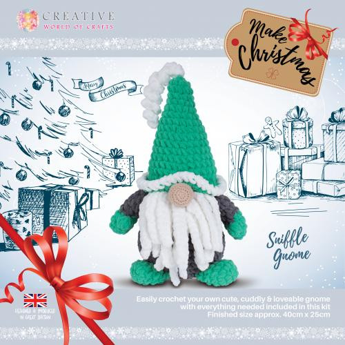Sniffles Christmas Gnome by Knitty Critters
