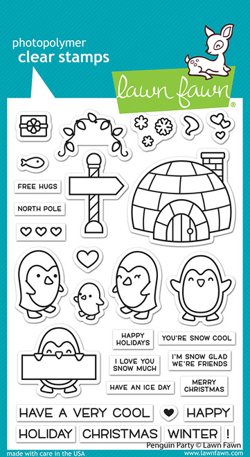 Penguin Party Clear Stamp Set