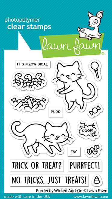 Purrfectly Wicked add-on Stamp Set