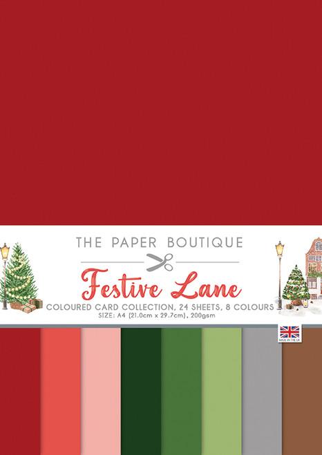 Festive Lane Colour A4 Card Collection