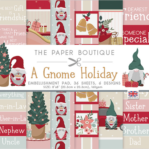 A Gnome Holiday 8×8 Embellishments Pad