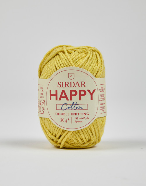Sirdar Happy Cotton DK Yarn - Buttercup - 771