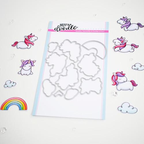 Heffy Doodle Fluffy Puffy Unicorns Dies