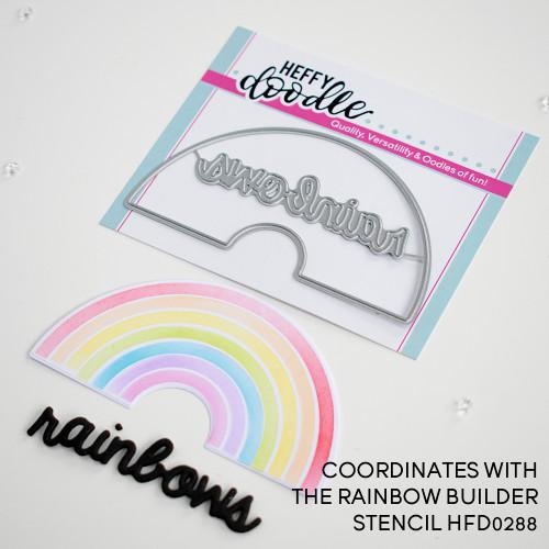 Heffy Doodle Rainbow Builder Coordinating Die