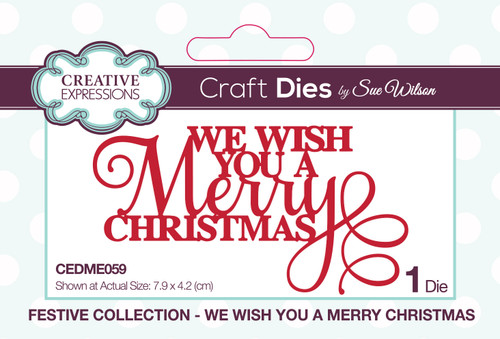 We Wish You A Merry Christmas Mini Dies by Sue Wilson
