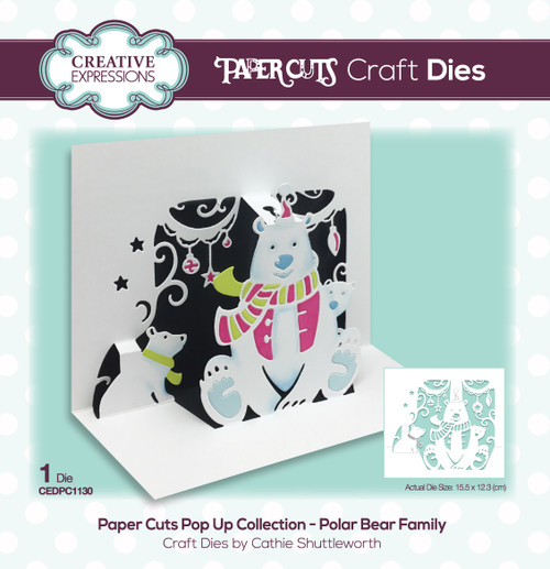 Polar Bear Family Pop Up Collection by Paper Cuts