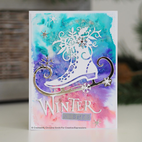 Sample Project Winter Cheer Edger Die by Paper Cuts