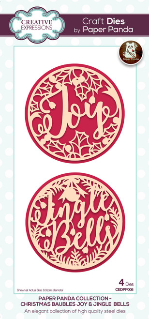 Christmas Baubles Joy & Jingle Bells Die by Paper Panda