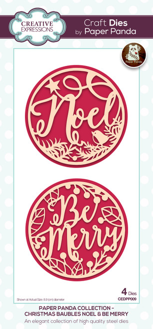Christmas Baubles Noel & Be Merry Dies by Paper Panda