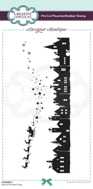 Above the Roof Tops Pre Cut Rubber Stamp by Designer Boutique