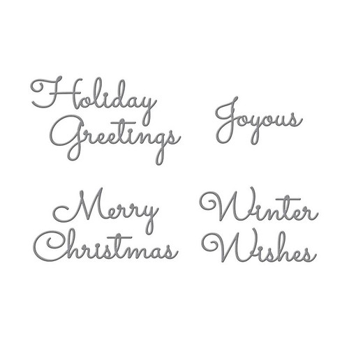 Christmas Mix & Match Sentiments Etched Dies
