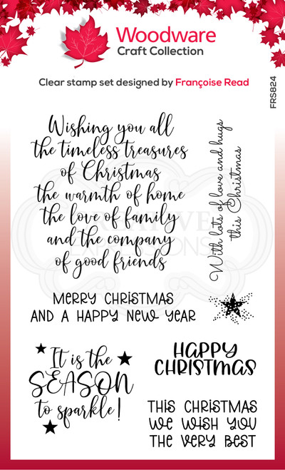 Special Christmas Words Clear Stamp Set by Francoise Read