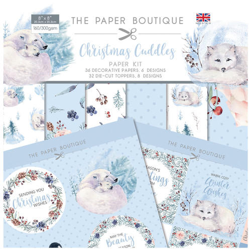 Christmas Cuddles Paper Kit 8x8