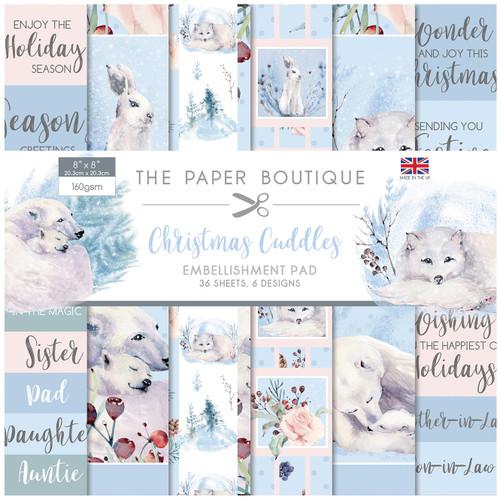 Christmas Cuddles 8x8 Embellishments Pad