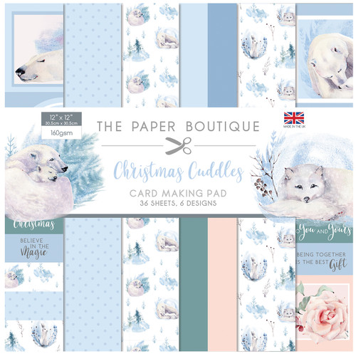 Christmas Cuddles Card Making Pad 12x12 160gsm