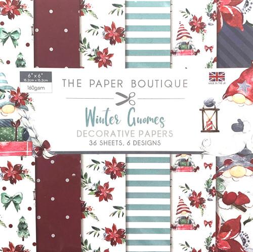 Winter Gnomes 6×6 Paper Pad 160gsm