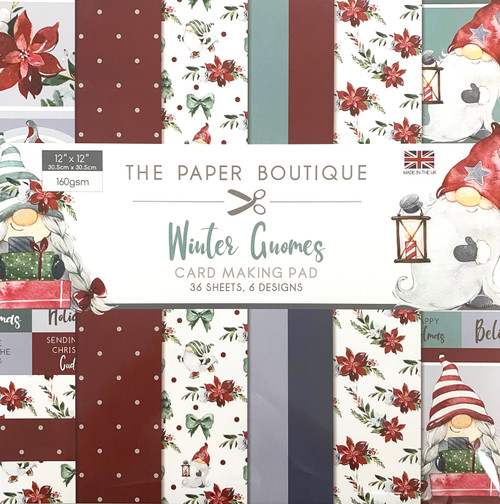 Winter Gnomes 12×12 Card Making Pad 160gsm