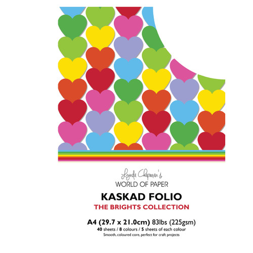 Kaskad – Brights Collection A4 225gsm Coloured Core Card