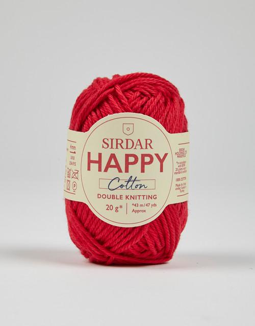 Sirdar Happy Cotton DK Yarn - Cherryade - 754