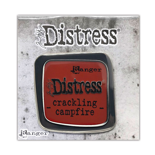 Tim Holtz Distress Crackling Campfire Enamel Pin