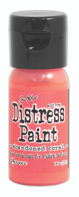 Tim Holtz Distress Flip Top Paint -  Abandoned Coral - 1oz