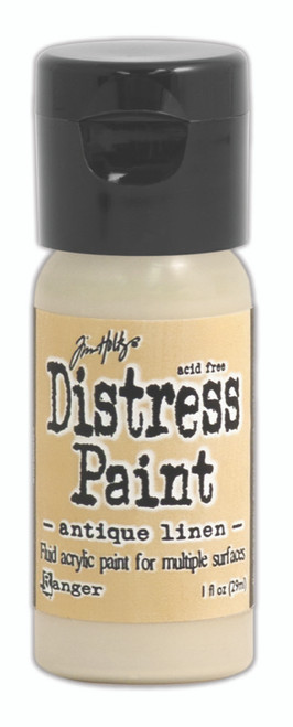 Tim Holtz Distress Flip Top Paint - Antique Linen - 1oz