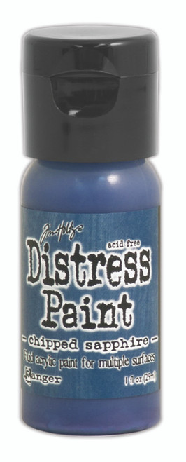 Tim Holtz Distress Flip Top Paint - Chipped Sapphire - 1oz