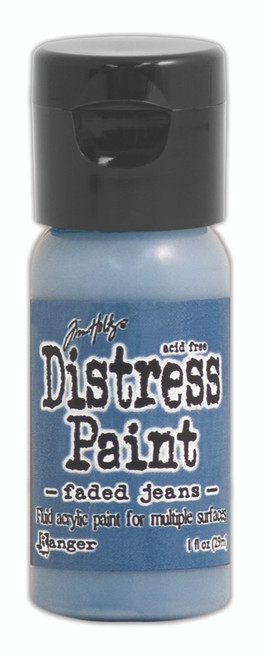 Tim Holtz Distress Flip Top Paint - Faded Jeans 0 1oz
