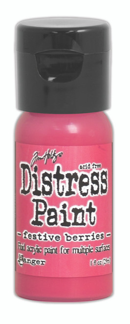 Tim Holtz Distress Flip Top Paint - Festive Berries - 1oz