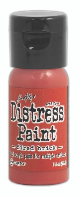 Tim Holtz Distress Flip Top Paint - Fired Brick - 1oz
