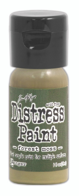 Tim Holtz Distress Flip Top Paint - Forest Moss - 1oz