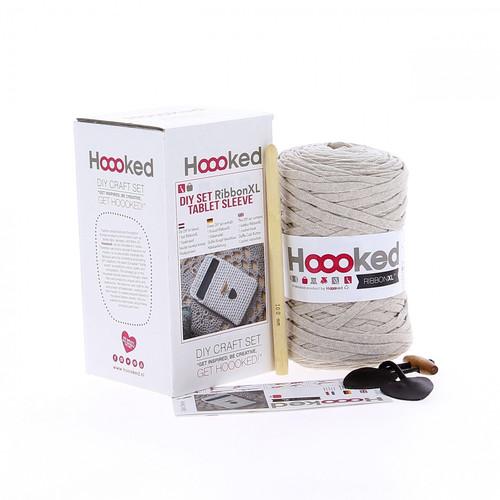 DIY Crochet Kit Tablet Sleeve - Camel Beige