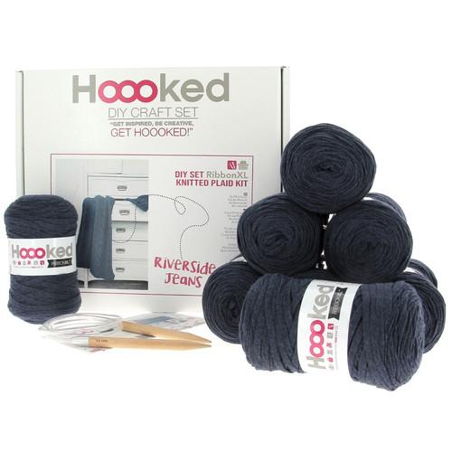 DIY Knitting Kit Ribbon XL Cable Throw - Riverside Jeans
