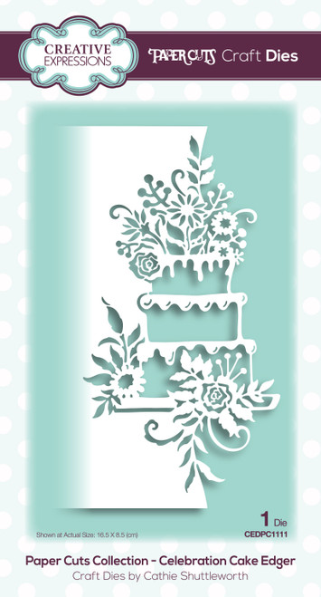 Celebration Cake Edger Craft Die by Paper Cuts