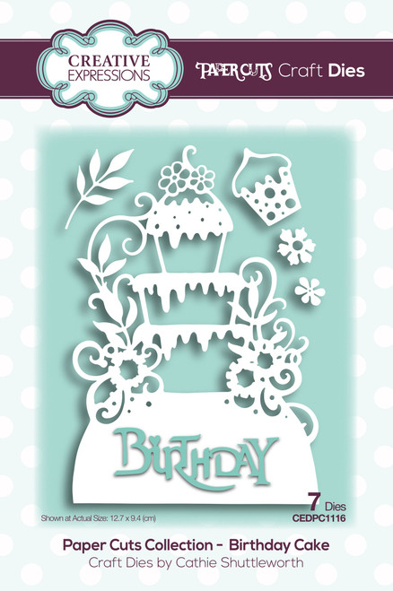 Birthday Cake Craft Die by Paper Cuts