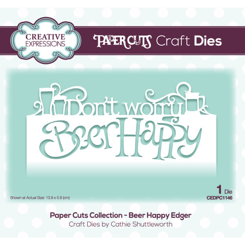 Beer Happy Craft Edger Die by Paper Cuts