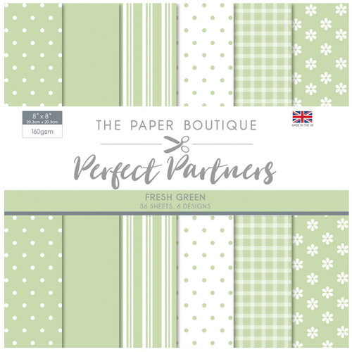 The Paper Boutique Perfect Partners 8×8 Paper Pad – Fresh Green