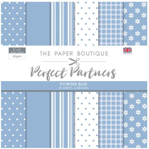 The Paper Boutique Perfect Partners 8×8 Paper Pad – Powder Blue