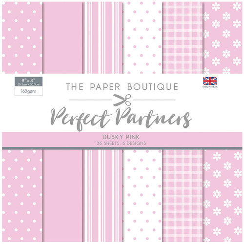 The Paper Boutique Perfect Partners 8×8 Paper Pad – Dusky Pink