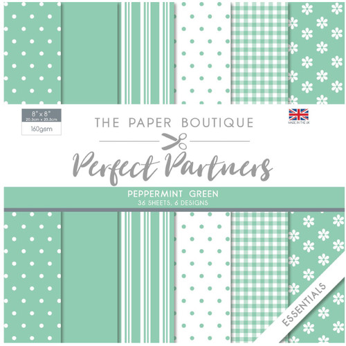 The Paper Boutique Perfect Partners 8×8 Paper Pad – Peppermint Green