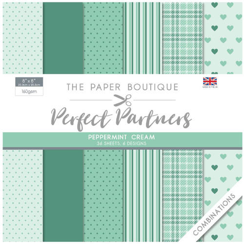 The Paper Boutique Perfect Partners 8×8 Paper Pad – Peppermint Cream