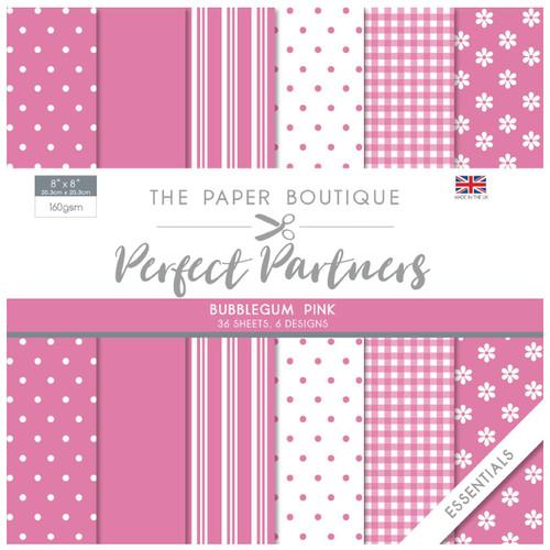 The Paper Boutique Perfect Partners 8×8 Paper Pad – Bubblegum Pink