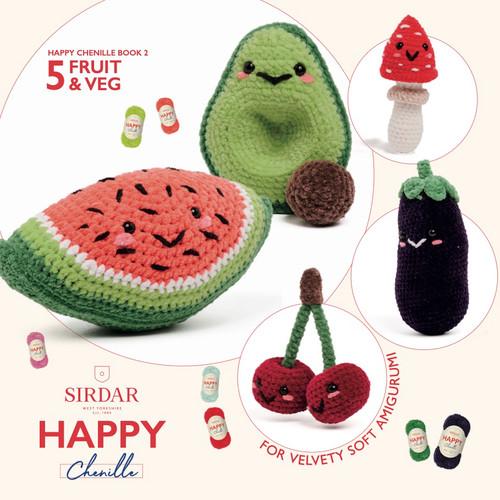 Sirdar Happy Chenille Book 2 - Fruit & Veg - Amigurumi