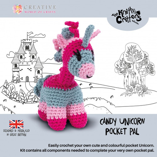 Candy Unicorn Pocket Pals y Knitty Critters