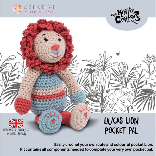 Lucas Lion Pocket Pals y Knitty Critters